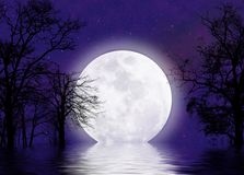 Moonscape surrealista Foto de archivo