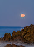 Moonset over Laguna Beach Royalty Free Stock Image