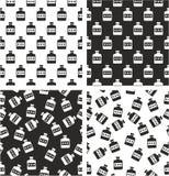 Moonshine Aligned & Random Seamless Pattern Set Stock Images