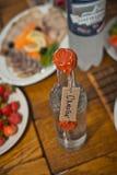 Moonshine bottle. Royalty Free Stock Images