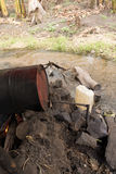 Moonshine distillery. Makeshift apparature on river to distill uganda waragi gin (moonshine) from bananas stock photos