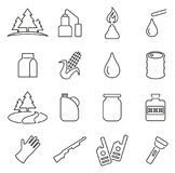 Moonshine Equipment & Culture Icons Thin Line Vector Illustration Set Royalty Free Stock Image