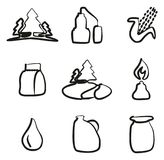 Moonshine Icons Freehand Royalty Free Stock Photography