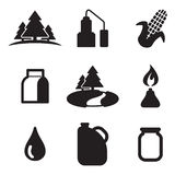 Moonshine Icons Stock Image