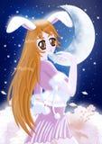 Moonshine il coniglietto Fotografia Stock