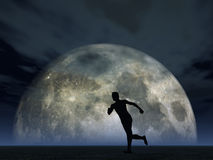 Moonshine jogger Stock Images