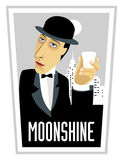 Moonshine-man-glass Stock Image