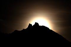 Moonshine nelle montagne Fotografia Stock