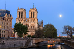 Moonshine Notre-Dame Stock Photography