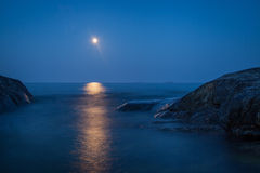 Moonshine over the Baltic sea Royalty Free Stock Photos