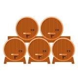 Moonshine and whiskey. Oak barrel. Stock Photos