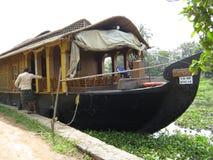 MoonSong小船在印度 库存照片