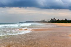 Moonsoon on a beach of a tropical island Royalty Free Stock Photos