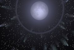 moonstjärnor royaltyfri illustrationer