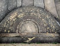 Moonstone από Anuradhapura Στοκ Φωτογραφίες