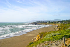 Moonstone Beach Cambria, California Stock Photo