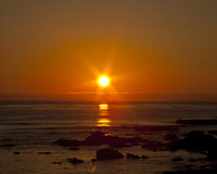 Moonstone Beach Sunset Stock Photography