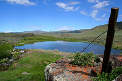 Moonstone Pond. Rural Idaho scene, spring pond for irrigation Stock Images