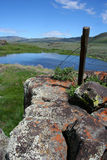 Moonstone Pond 2. Rural Idaho scene, spring pond for irrigation Royalty Free Stock Photography