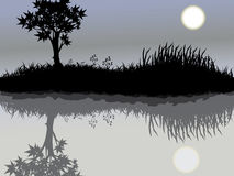 moontree royaltyfri illustrationer