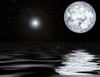 moonvatten vektor illustrationer
