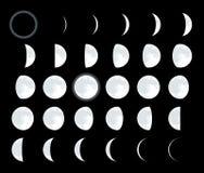 moonvektor stock illustrationer