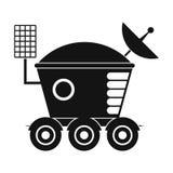 Moonwalker zwart eenvoudig pictogram stock illustratie