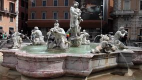 The Moor Fountain Navona Square Rome Stock Images