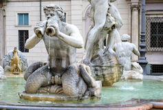 Moor Fountain, Piazza Navona, Rome, Italy Royalty Free Stock Photography