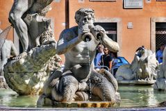 Moor Fountain, Piazza Navona, Rome, Italy Royalty Free Stock Photo
