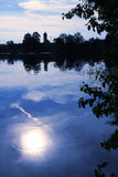 Moor lake with moonlight scenery Stock Photography
