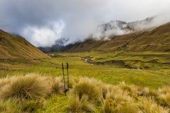 Moor and river in Collanes Valley in El Altar volcano Royalty Free Stock Photos