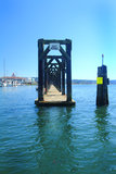 Moorage flotante de la huésped en el puerto de Everett Imagen de archivo libre de regalías