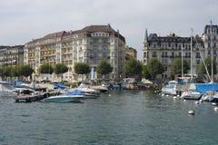 Moorage at Geneva lake Stock Images