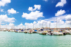 Moorage of yacht's Royalty Free Stock Images