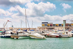 Moorage of yacht's Stock Photo