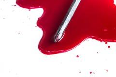 moord Rood bloed op wit royalty-vrije stock fotografie