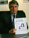 Moord van Florence Denefle in Guatemala stock foto