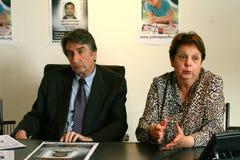 Moord van Florence Denefle in Guatemala stock afbeeldingen