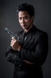 Moordenaar en spionmens Stock Foto's
