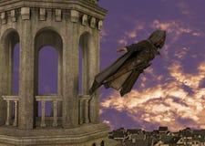 Moordenaar Jumper Tower Medieval Illustration stock illustratie