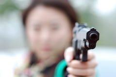 Moordenaar met een kanon Royalty-vrije Stock Foto's