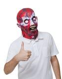 Moordenaar met een masker Stock Afbeeldingen