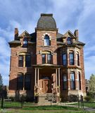 Moore Mansion. This is a Spring picture of the Lucien S. Moore Mansion located in Detroit, Michigan in Wayne County. This three story brick mansion is an example Stock Images