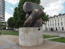 Moore sculpture titled Locking Piece in London Stock Images