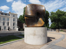 Moore sculpture titled Locking Piece in London Royalty Free Stock Images