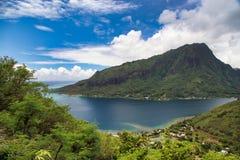 Moorea海岛,塔希提岛,法属波利尼西亚,接近博拉博拉岛 图库摄影