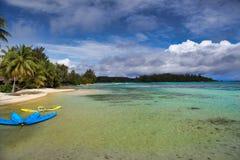 Moorea海岛,塔希提岛,法属波利尼西亚,接近博拉博拉岛 库存照片