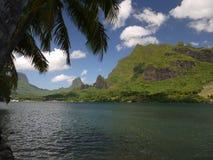 Moorea,法属玻里尼西亚华美的海岛  库存图片