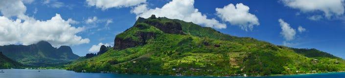 Moorea öar, kocks fjärd, franska Polynesien Arkivfoto